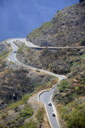 hairpin curve at masca tenerife canary