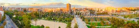 valencia city panorama spain