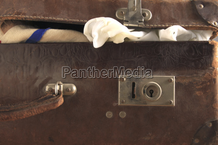 travel detail closeup leather look glancing