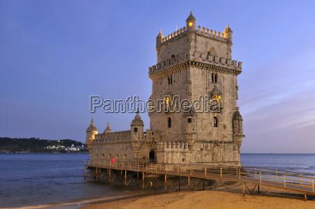 torre de belem 16th century fortification