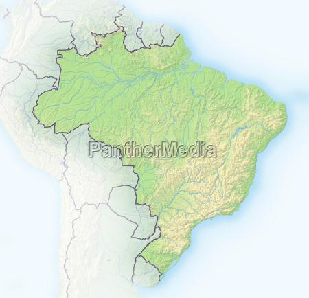 american america border brazil south america