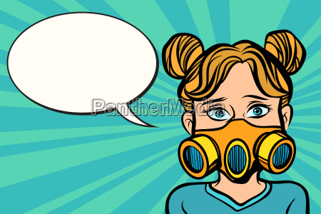 woman in a gas mask