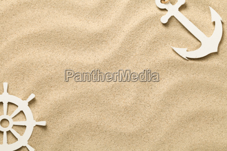 summer background with decorative anchor and