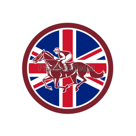 british jockey horse racing union jack
