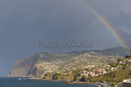 rainbow over the sea and the