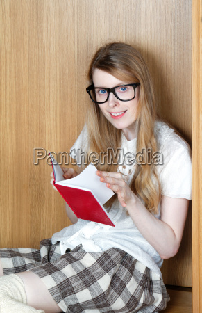 browsing through book pages