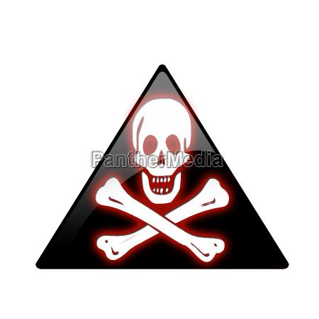 sign signal danger shine shines bright
