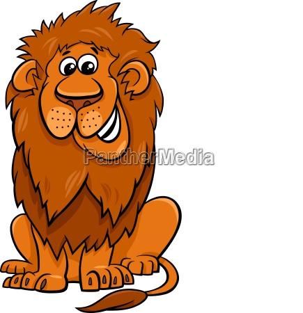 lion animal character cartoon illustration