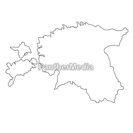 outline map of estonia