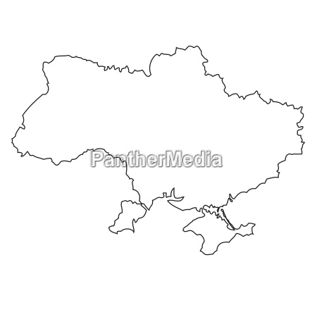 outline map of ukraine