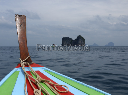 view from a longtail boat on