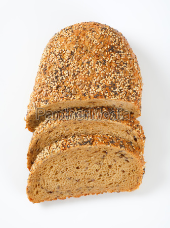 bread with poppy sunflower and sesame