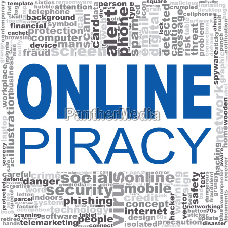 online piracy word cloud