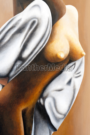 nude with cape acrylic painting artist