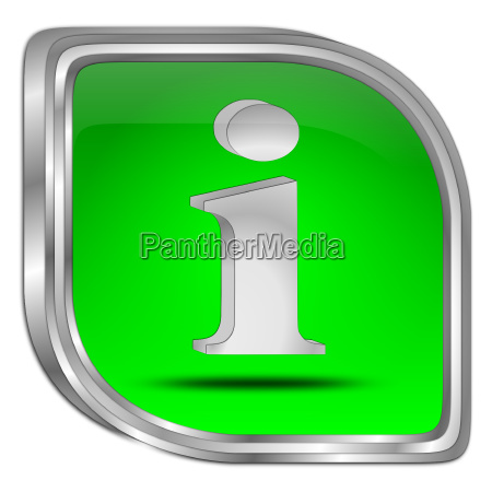 green information button 3d illustration