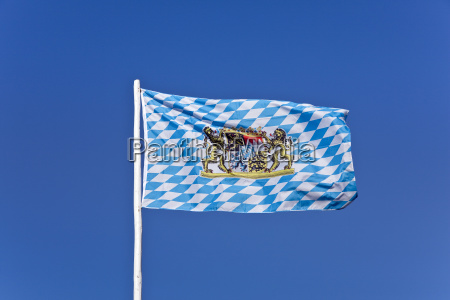 isolated europe bavaria flag deserted day