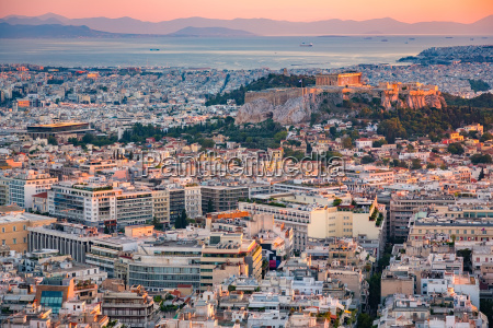 aerial view on athens greece at