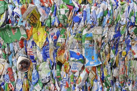 detail closeup deserted trash packagings details