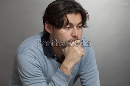 pensive man sadness depression