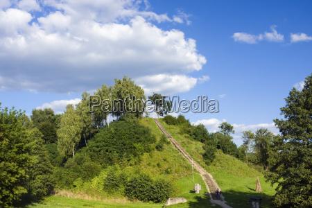 hugel fortified settlement near merkine lithuania