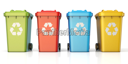 containers for recycling waste sorting plastic