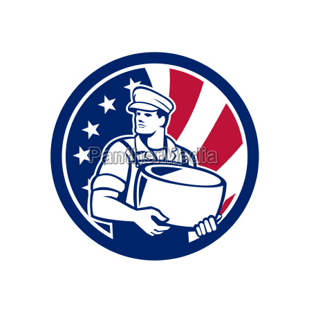 american artisan cheese maker usa flag