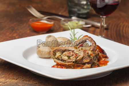 veal roulade from the canary islands