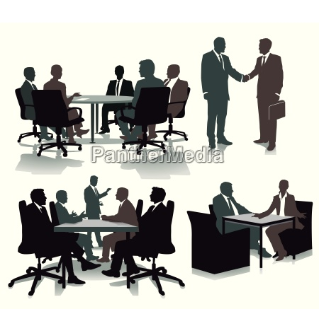 consulting in the officeillustration