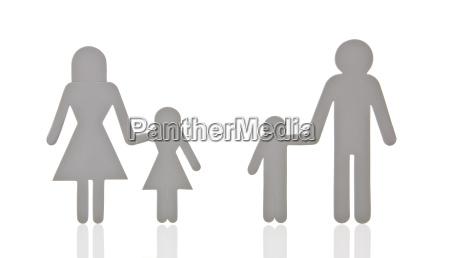 piktogram family separated symbol image divorce