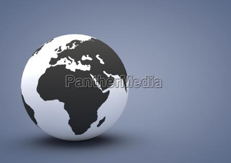 symbolic africa europe illustration deserted symbol
