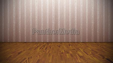 empty room concrete wall wooden floor
