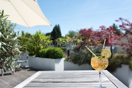 summer drink on a sun terrace