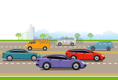 expressway in the big city illustration