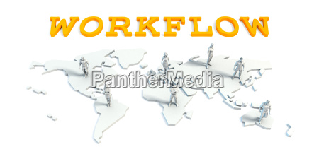 workflow concept with business team