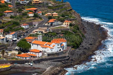 the village of ponta delgada on