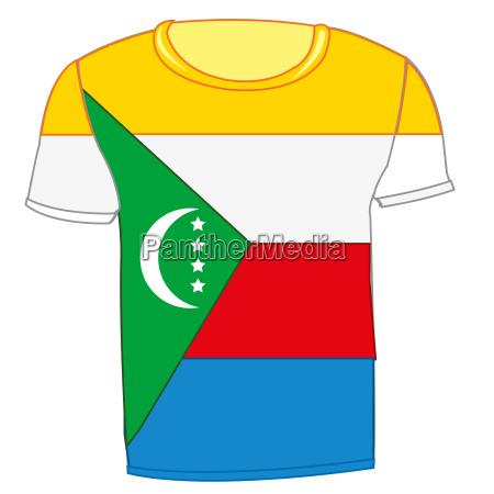 t shirt flag komorskie island