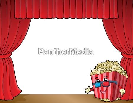 stylized popcorn theme image 2
