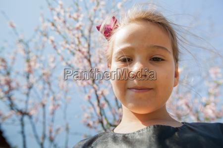 portrait of beautiful little girl