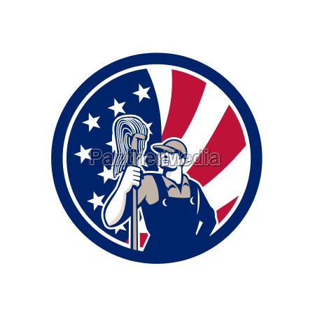 american industrial cleaner usa flag icon