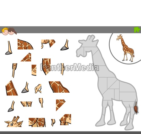 jigsaw puzzle game with giraffe animal