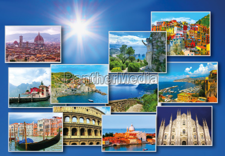 collage of major italian travel destinations