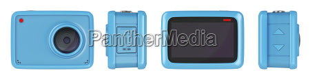 action camera isolated on white