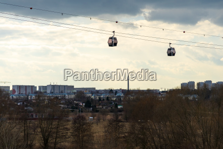 wagons of a cable car over