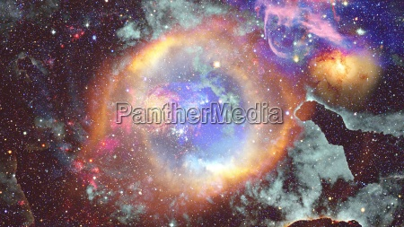 nebula and stars in outer space