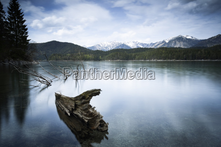 at the eibsee in bavaria long