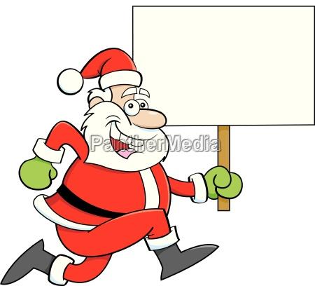 cartoon illustration of a santa claus