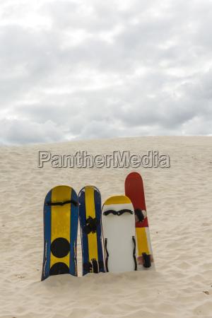 sand boards in joaquina dunes florianopolis