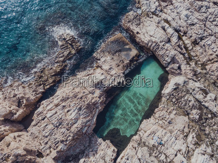 aerial view of swimming pool on