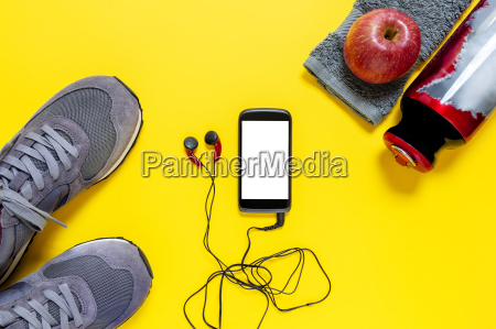 healthy eating and equipment for leisure