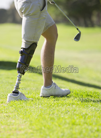 close up of male golfer with